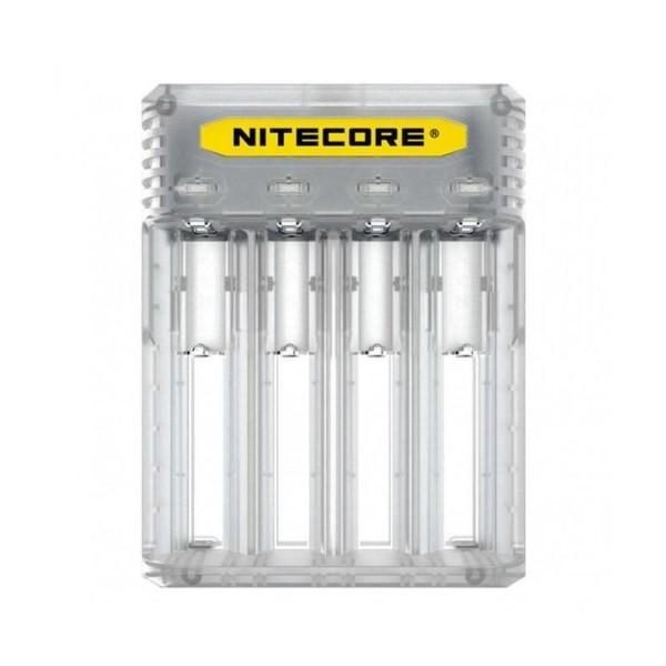 Nitecore New Q4 Charger -Black/Clear/Pink/Yellow, Cloud Vaping UK