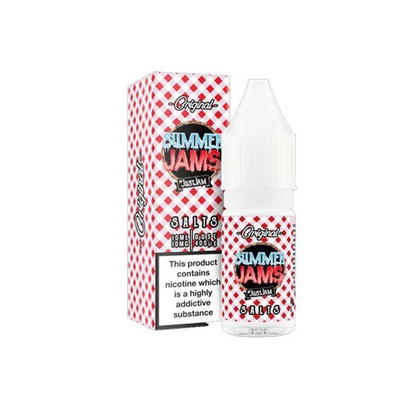 Summer Jam by Just Jam 10ml Flavoured Nic Salt 20Mg E-liquid, Cloud Vaping UK