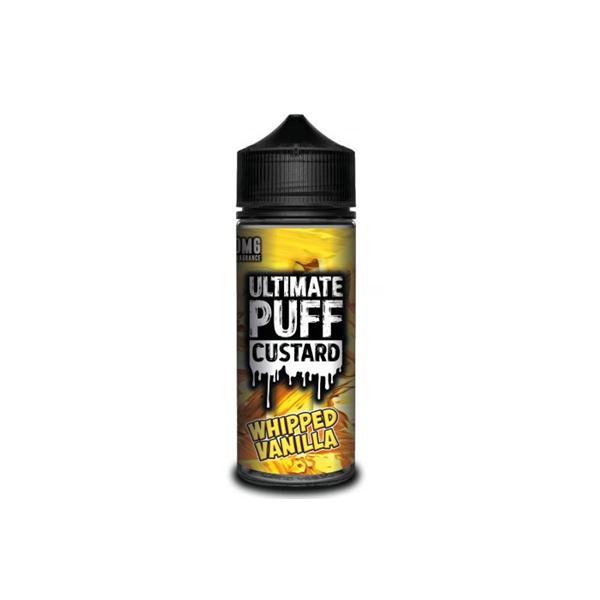Ultimate Puff Custard 0mg 100ml Shortfill E-liquid, Cloud Vaping UK