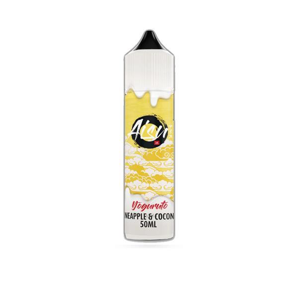 AISU Yoguruto Zap Juice 0mg 50ml Shortfill E-liquid (Free ZAP 18mg Nic Salt), Cloud Vaping UK