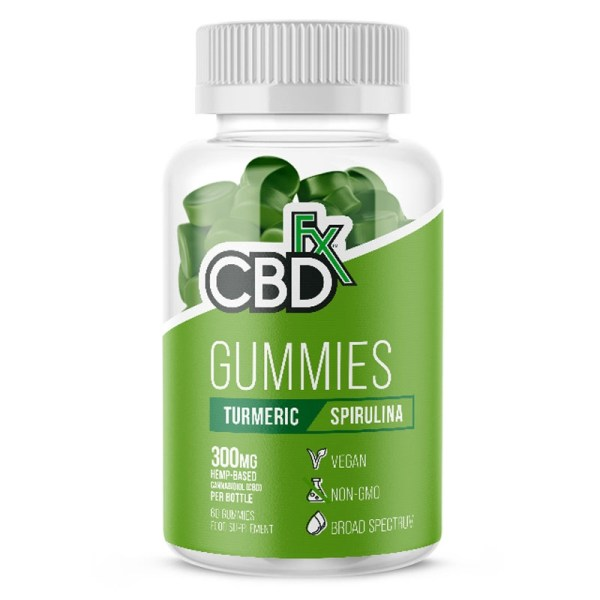 CBDfx Gummies – Turmeric & Spirulina (Jar of 60), Cloud Vaping UK