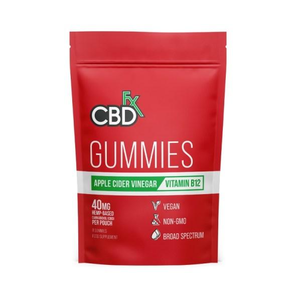 CBDfx Gummies – Apple Cider Vinegar (Pouch of 8), Cloud Vaping UK