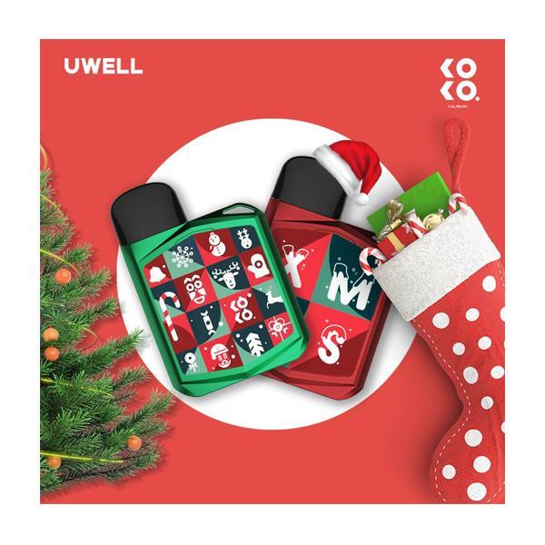 Uwell Caliburn Koko Prime Kit  (Christmas Edition), Cloud Vaping UK