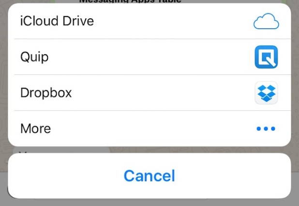 تطبيق واتس اب يمكنه الان مشاركة الملفات من التطبيقات السحابية على هاتفك