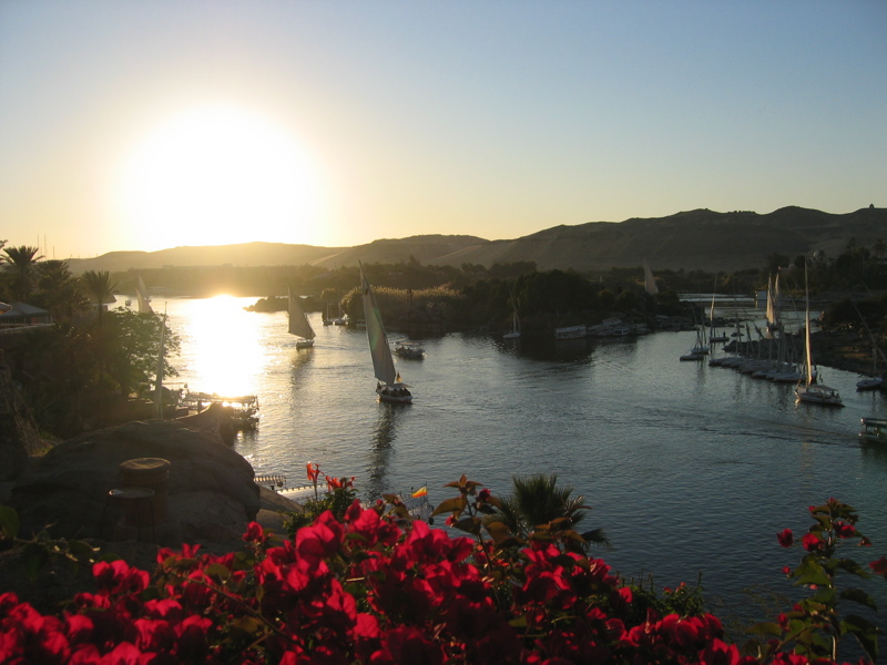 Sunset over the Nile at Aswan