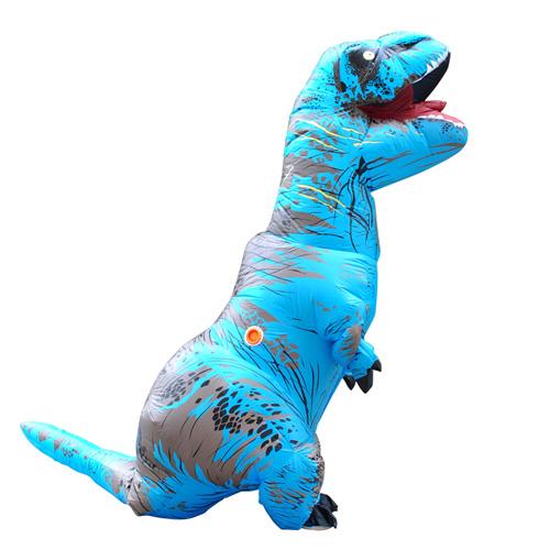 Carnival Dress Adult Blue TREX INFLATABLE Dinosaur Costume Fancy Dress Cosplay Animal Jumpsuit