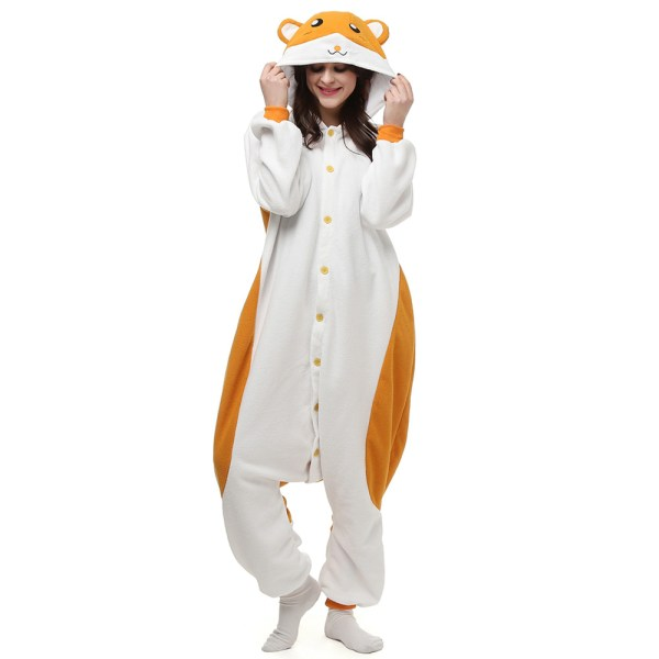Hamtaro Kigurumi Costume Unisex Fleece Pajamas Onesie
