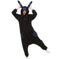 Umbreon Kigurumi Costume Unisex Fleece Pajamas Onesie ...