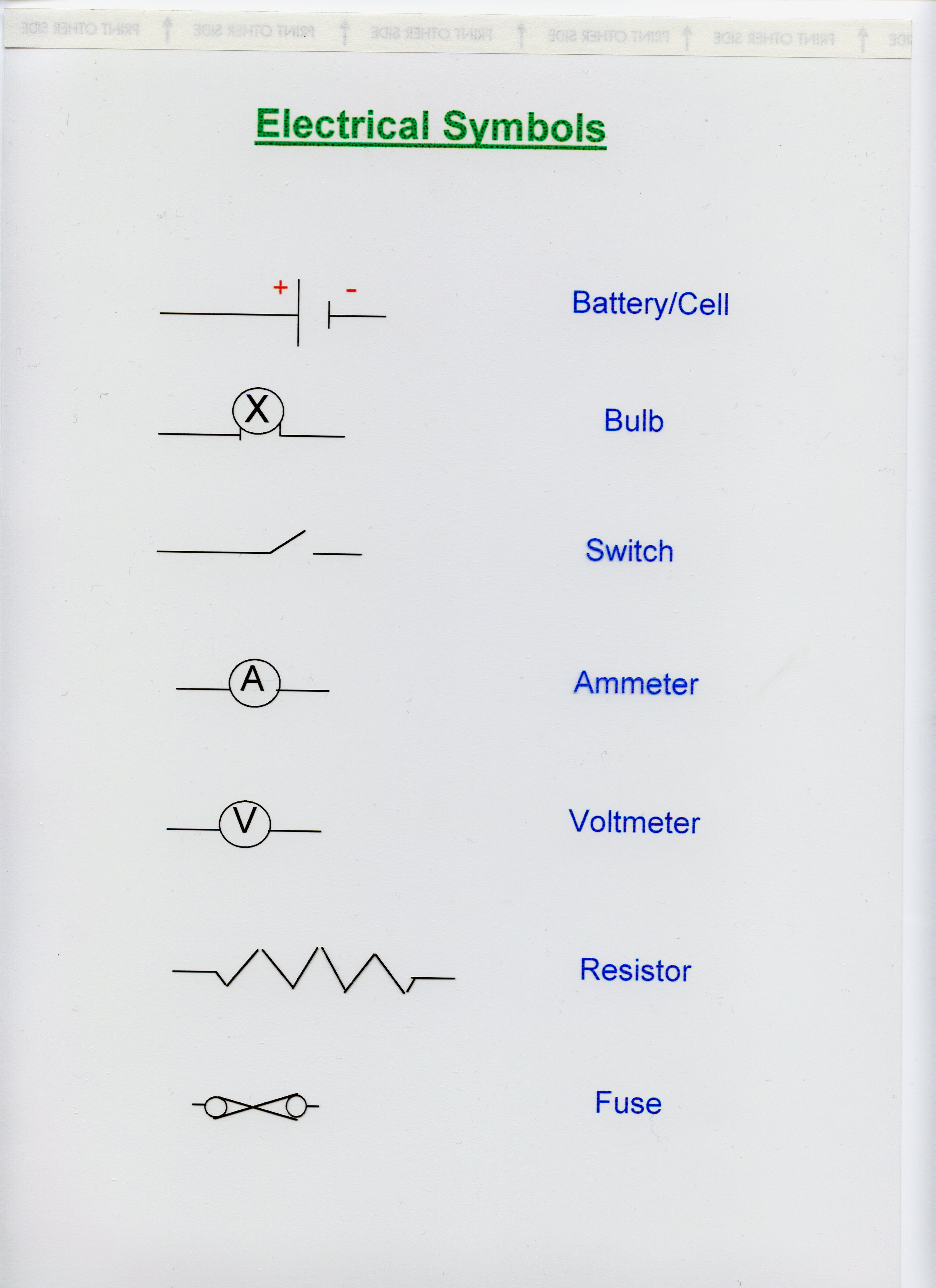 Pictures Of Electric Symbols
