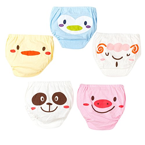 Happy childhood Baby Boys Girls Toddler Infant Underwear Boxer Cotton Triangle Diaper Nappy Underwear Pack of 5 (S/6-9M)