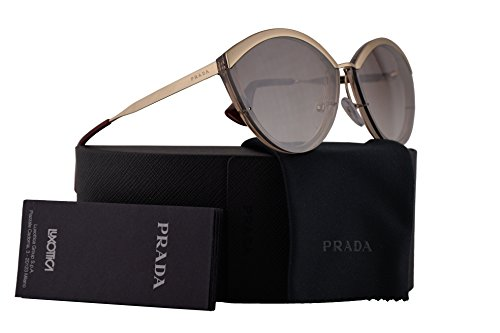 Prada Sunglasses Sand Pale Gold Light Brown w/Gradient Brown Mirror Silver 64mm Lens