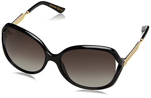 Gucci Women 60 Black/Grey Sunglasses 60mm