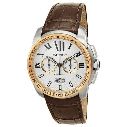 Cartier Calibre Men's Two Tone Chronograph Watch
