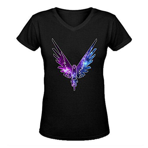 Doppelwalker Maverick Logo T Shirt,Logan Paul Logang YouTube womens V Neck T-Shirts Black M