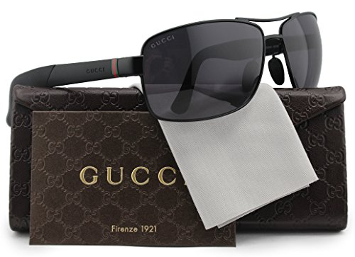 GUCCI Polarized Sunglasses Matte Black w/Crystal Grey (0COY) 2234/S COY 3H 63mm Authentic