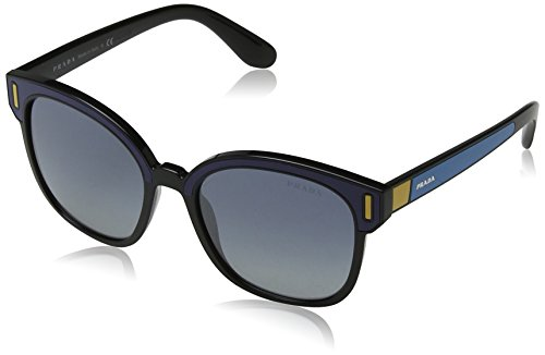 Prada Black/Blue PR05US Square Sunglasses Lens Category 3 Lens