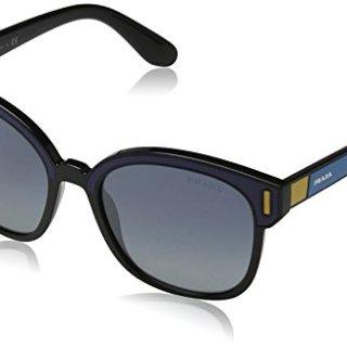 Prada Black/Blue PR05US Square Sunglasses Lens Category 3 Lens