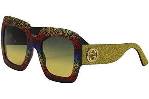 Gucci GG MULTICOLOR/GREY GOLD Sunglasses