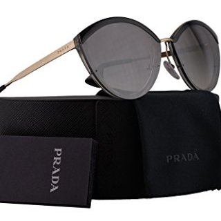 Prada Sunglasses Silver w/Grey 64mm Lens