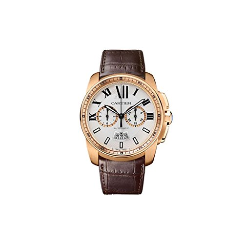 Cartier Calibre Men's 18k Rose Gold Automatic Chronograph Watch
