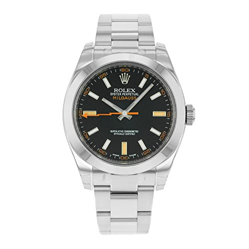 Rolex Milgauss Blue Dial Stainless Steel Mens Watch
