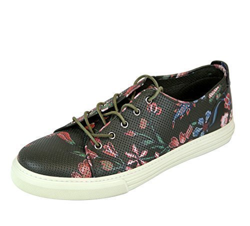 Gucci Men's Flower Print Leather Lace-up Fashion Sneakers 342049 3035 (10.5 US/10 G)