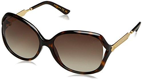 Gucci Women's Oval Sunglasses - Havana/Brown