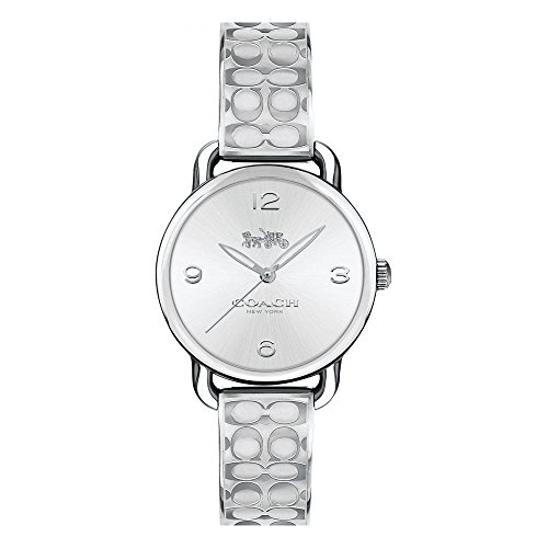 Coach Delancy Silver Dial Ladies Bangle Watch