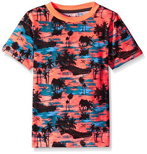 American Hawk Boys' Short Sleeve Tee, TL34-Coral, 7