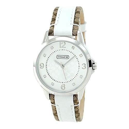 Coach Womens Classic Signature Strap White Dial Watch