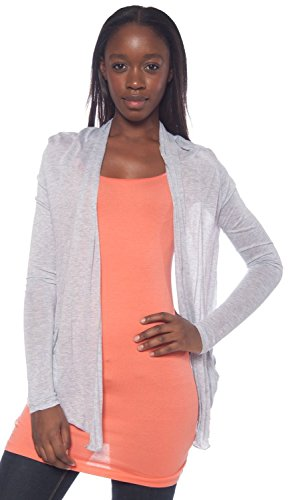 Active Products Women's Basic Comfortable Soft Easy Wear Cardigan Shawl Top,X-Large,Heather Gray