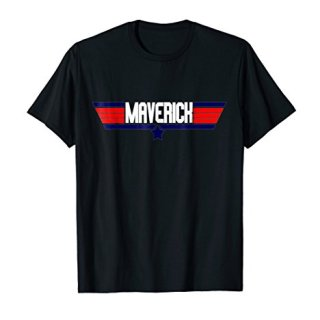 """""""Maverick"""" retro classic action movie geek nerd quote tee"""
