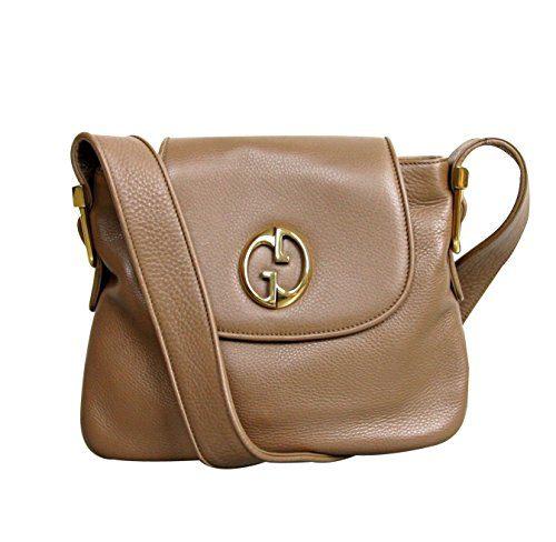 Gucci Womens 1973 Brown Leather Shoulder Bag Handbag