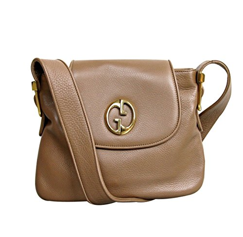 Gucci Womens 1973 Brown Leather Shoulder Bag Handbag