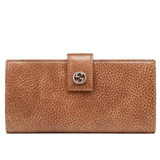Gucci Wallet Miss GG Brown Leather Interlocking Logo Detail