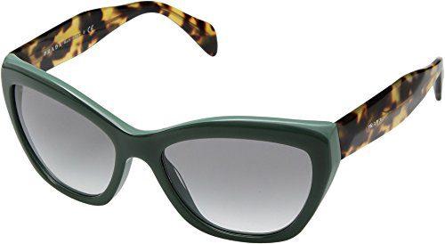 Prada Opal Green Cat Eye Sunglasses, 56mm
