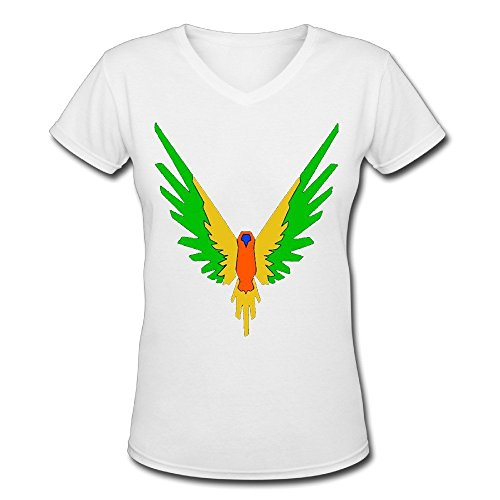 Doppelwalker Maverick Logo T Shirt,Logan Paul Logang YouTube Womens V Neck T-Shirts (S, White01)