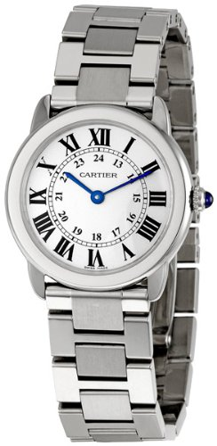 """Cartier Women's """"Ronde Solo"""" Stainless Steel Watch with Link Bracelet"""