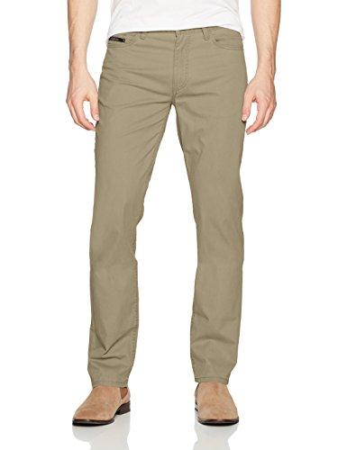 Calvin Klein Jeans Men's Slim Straight Stretch Calvary Pant, Aluminum, 33W 30L