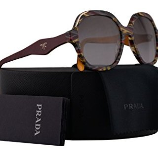 Prada Sunglasses Havana Ears Bordeaux Yellow w/Grey Gradient 52mm Lens