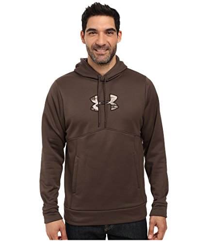 Under Armour Men's Armour Storm Fleece Stacked Hoodie,Maverick Brown/Saddle, XXX-Large