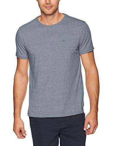 Tommy Jeans Men's T-Shirt Original Short Sleeve Tee, Black Iris, Large