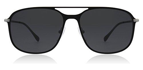 Prada Sport Black Rubber/Gunmetal Square Pilot Sunglass