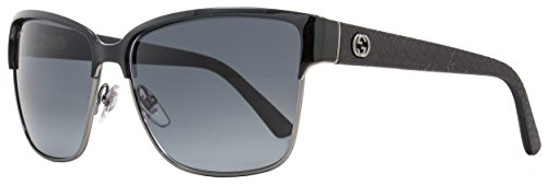 Gucci Unisex GG Ruthenium Black/Gray Gradient