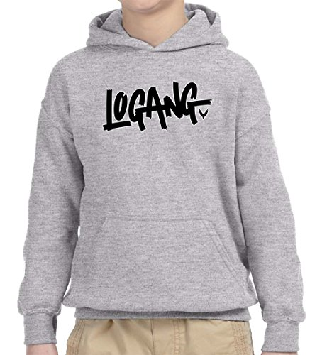 New Way 826 - Youth Hoodie Logang Logan Paul Maverick Savage Unisex Pullover Sweatshirt Small Heather Grey