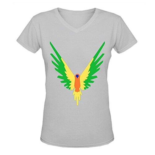 Doppelwalker Maverick Logo T Shirt,Logan Paul Logang YouTube womens V Neck T-Shirts (S, Grey01)