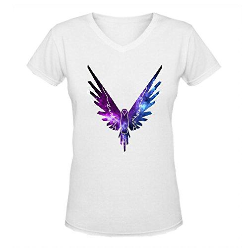 Doppelwalker Maverick Logo T Shirt,Logan Paul Logang Youtube Womens V Neck T-Shirts White L