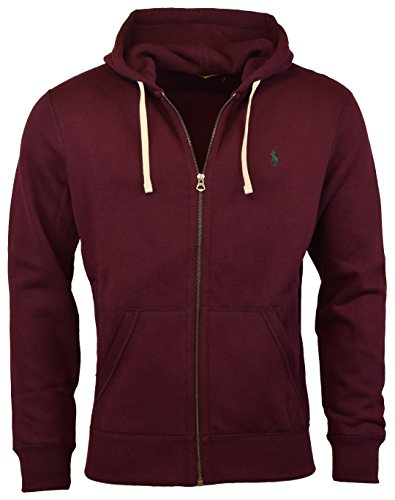 Polo Ralph Lauren Classic Full-Zip Fleece Hooded Sweatshirt - XXL - Italian Red