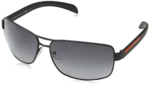 Prada Linea Rossa Men's Black Rubber/Grey Polarized