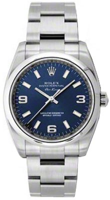 NEW Rolex Air King Blue Arabic Dial Stainless Steel Mens watch BLAO